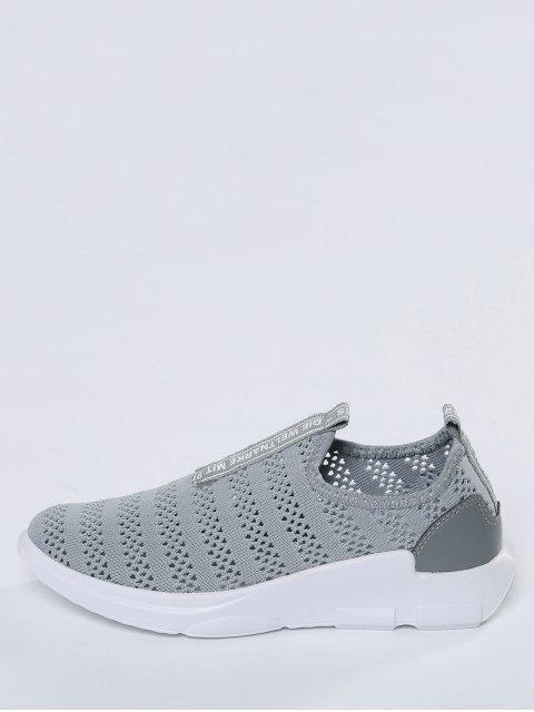 sale Breathable Mesh Letter Pattern Athletic Shoes - GRAY 38 Mobile