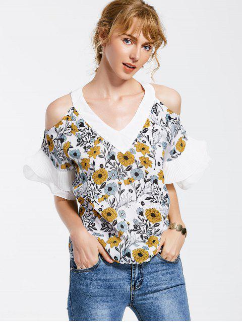 Floral Ruffles Cold Blusa de Hombro - Floral XL Mobile