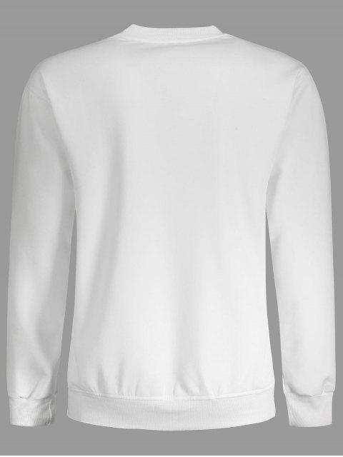 Sweat à capuche graphique à cran glacé à relief - Blanc L Mobile