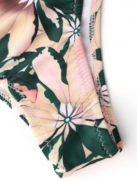 new Floral Print Halter Padded Bikini Set - MULTICOLOR M Mobile