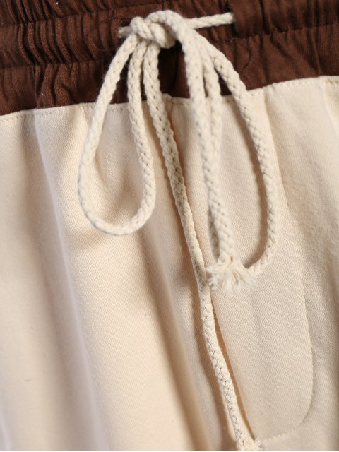 ladies Zip Pockets Jogger Terry Sweat Shorts - KHAKI XL Mobile