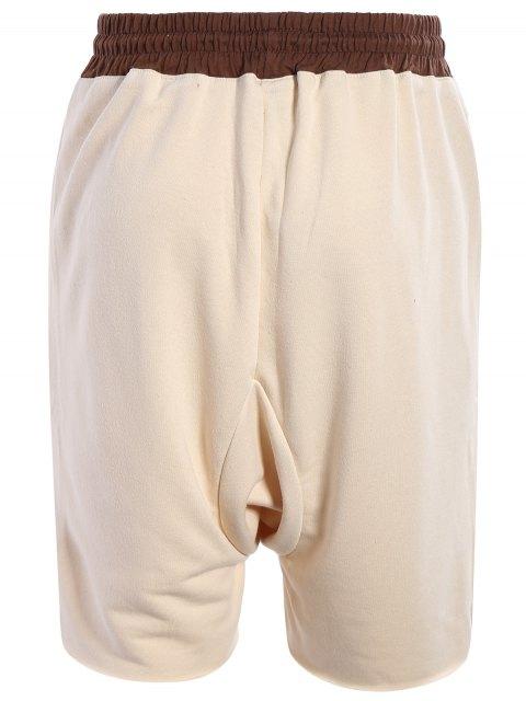 best Zip Pockets Jogger Terry Sweat Shorts - KHAKI M Mobile