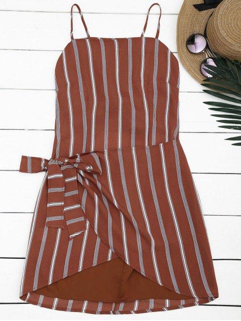 best Knotted Stripes Slip Mini Dress - STRIPE L Mobile