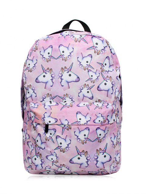 unique Unicorn Print Backpack - PINKISH PURPLE  Mobile