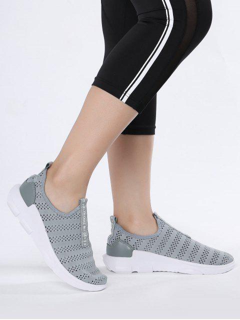 Zapatos Deportivos Respirables de Patrón de Letra de Malla - Gris 41 Mobile