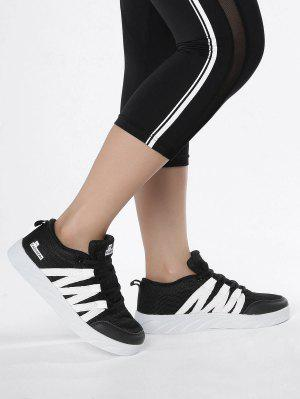 Breathable Tie Up Mesh Skate Shoes