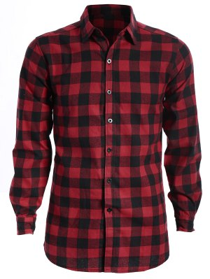 Chemise à carreaux décontractée pour hommes