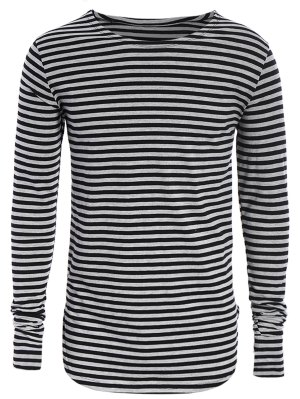 Striped Long Sleeve Mens Jersey Top