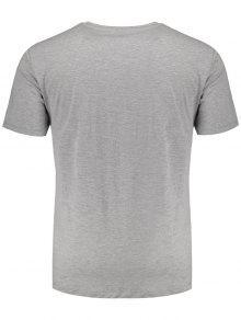 Impresa 225;fica Gris Xl Gr Camiseta Hoja wq4pp8