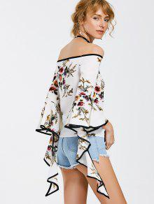 The Shoulder M Off Espiral Blusa Floral Manga Floral 8Oqw5dvxw