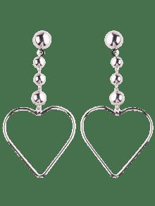 Hollow Out Heart Drop Earrings