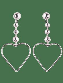 Hollow Out Heart Drop Earrings