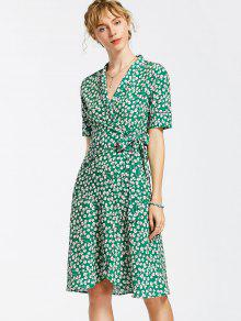 a676b6cbe9ef3 32% OFF  2019 Floral Wrap Dress In FLORAL