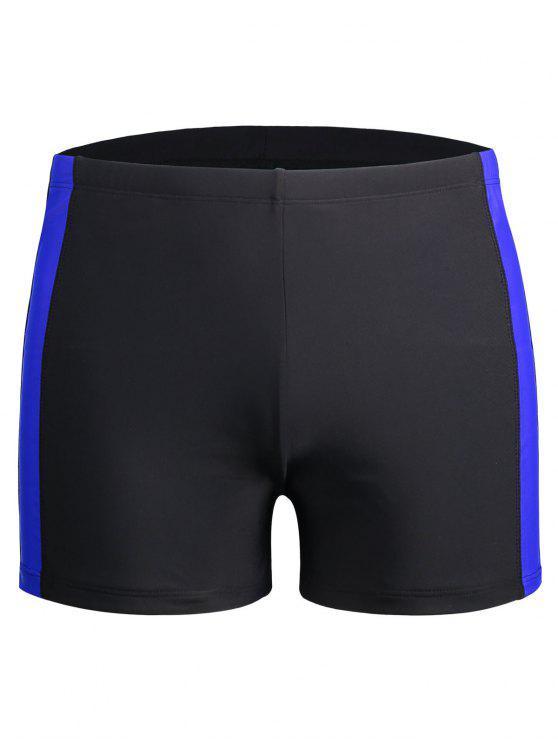 ملابس السباحة الملاكم السراويل الرجل قيعان - أسود 2XL