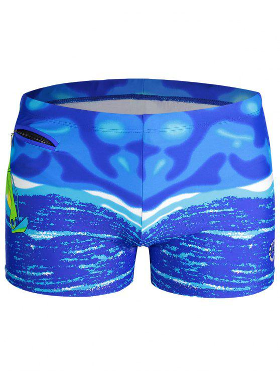 womens Mens Swim Trucks Boxer Shorts - BLUE 2XL