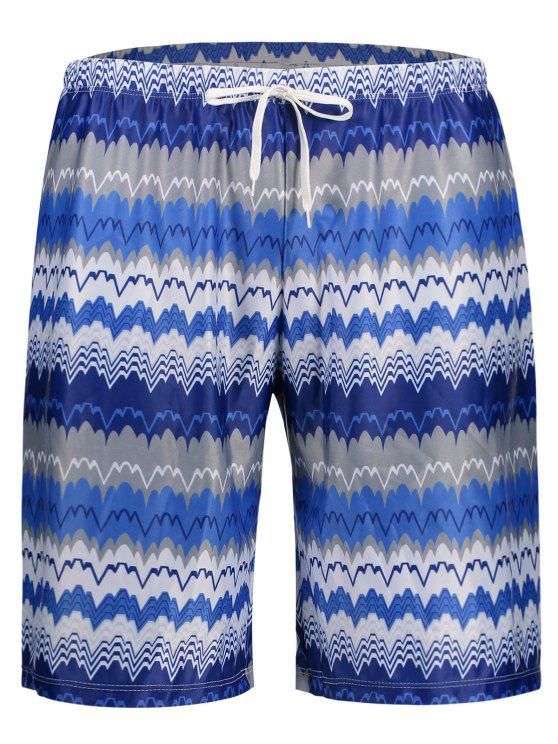 Herrn Badehose Board Shorts mit Streifenmuster - COLORMIX  L
