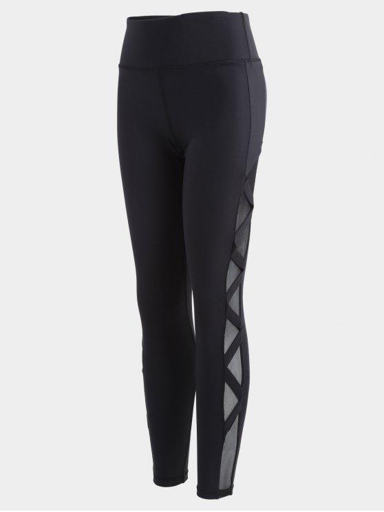 Leggings d'entraînement de maillot de bandage - Noir L