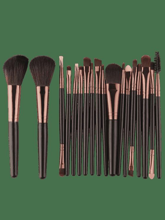 18Pcs Ensemble de brosses multifonctions pour maquillage facial - Noir Marron