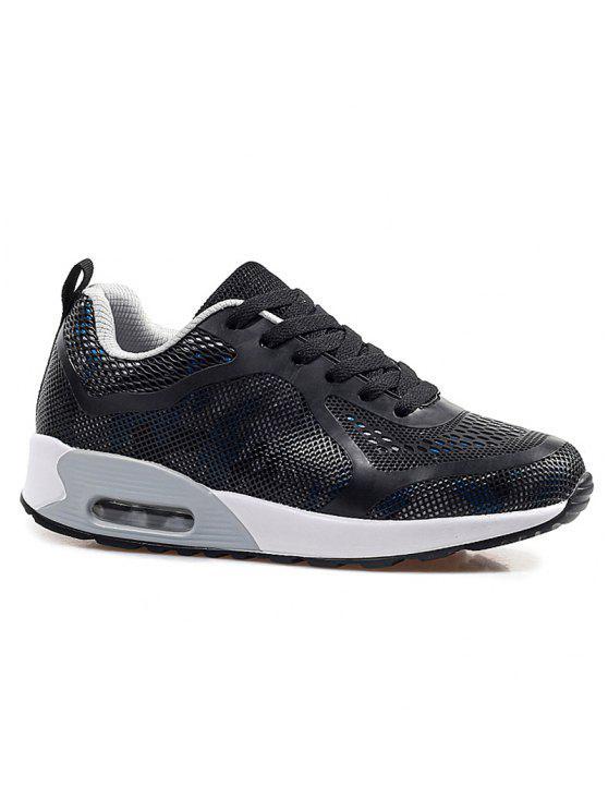 وسادة الهواء متعدد الألوان أحذية رياضية - أسود ورمادي 37