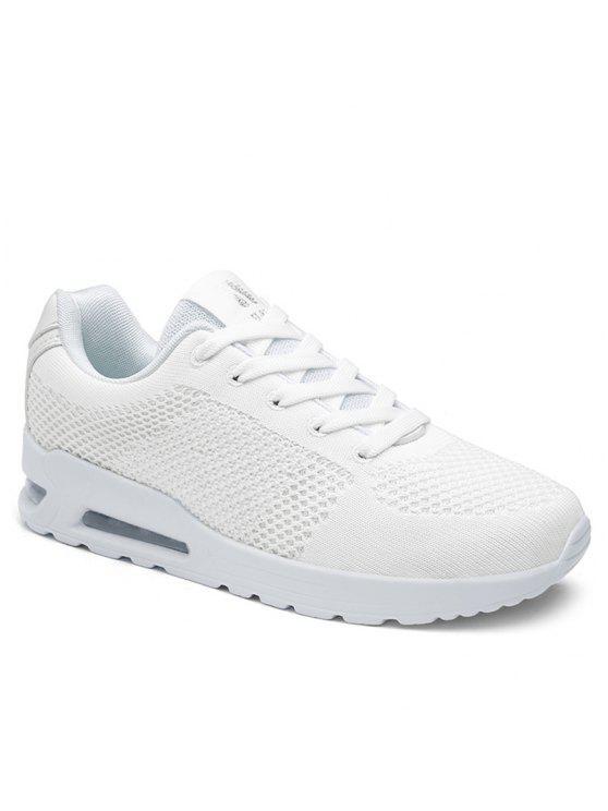 affordable Air Cushion Mesh Athletic Shoes - WHITE 37