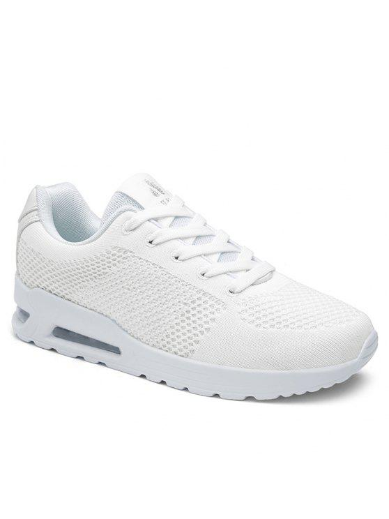 buy Air Cushion Mesh Athletic Shoes - WHITE 38