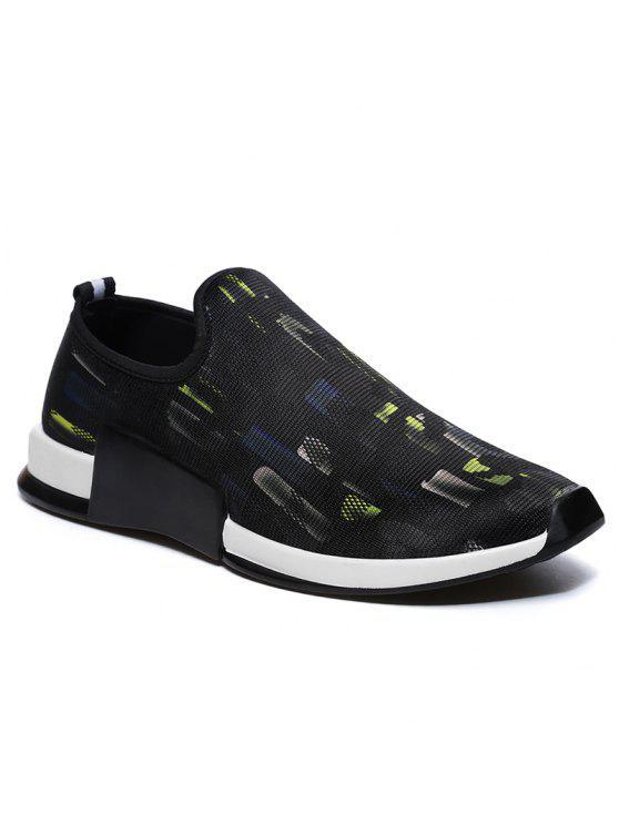 شبكة منخفضة أعلى الانزلاق على أحذية رياضية - الأصفر 40