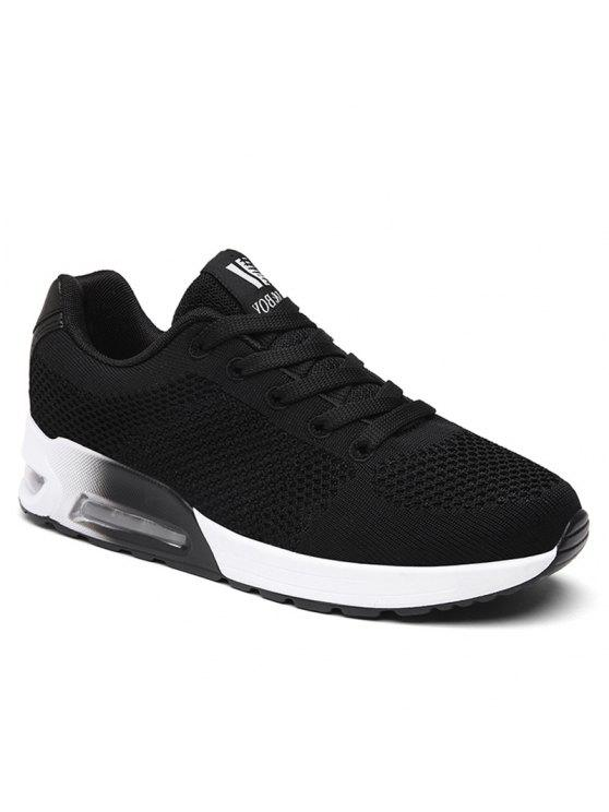 chic Air Cushion Mesh Athletic Shoes - BLACK 39
