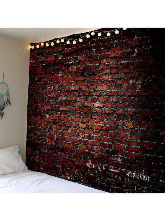 الجدار شنقا الفن ديكور الطوب طباعة نسيج للماء - BROWN W59 بوصة * L51 بوصة