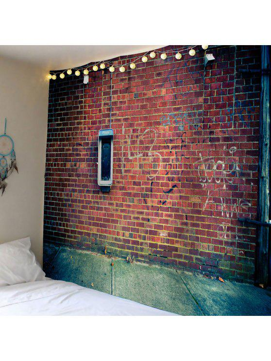 الطوب الزحف ماء جدار الفن نسيج - براون العميق W79 بوصة * L59 بوصة