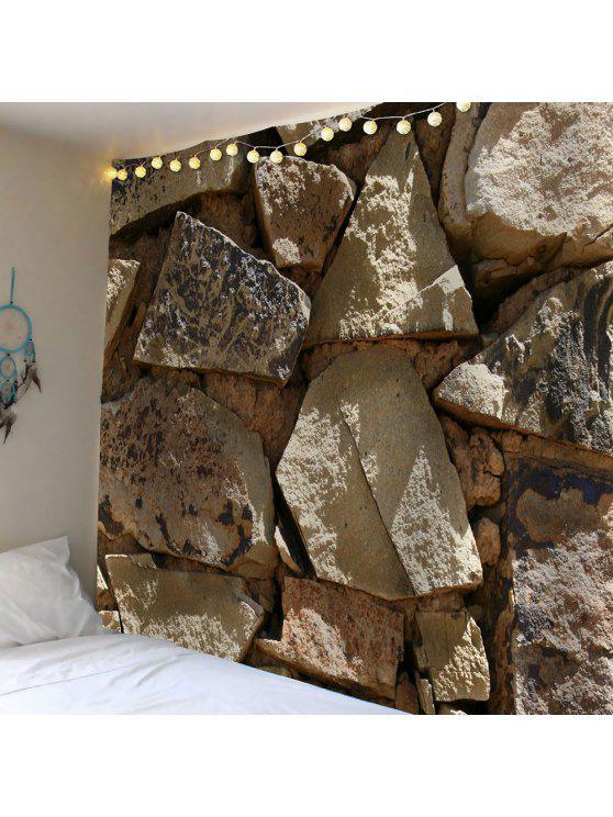 حجر كبير طباعة ماء الجدار شنقا نسيج - رمادي W79 بوصة * L59 بوصة