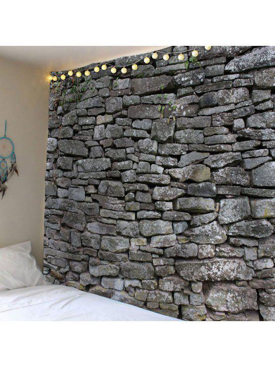 خمر حجر طباعة ماء جدار نسيج - رمادي W59 بوصة * L51 بوصة