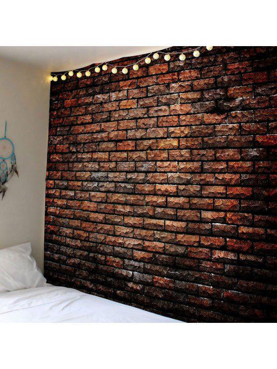 الحجر الطبيعي الطوب طباعة ماء الجدار نسيج - ديب براون W59 بوصة * L59 بوصة