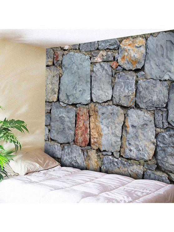 الحجر المعماري ماء جدار الفن نسيج - اللون الرمادي W79 بوصة * L59 بوصة