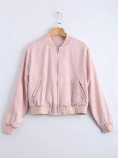 Embroidered Zip Up Chaqueta De Recuerdo - Rosa S