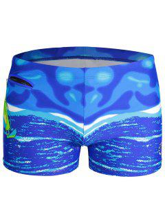 Mens Swim Trucks Boxer Shorts - Blue Xl