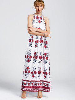 Sin Mangas De Flores Impresas Vestido Maxi - Floral 2xl