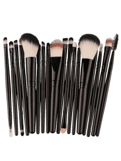 18Pcs Multifunctional Facial Makeup Brushes Set - Black