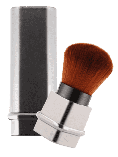 Telescopic Square Tube Blush Brush - Silver