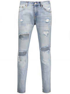 Vintage Ripped Jeans - Light Blue 34