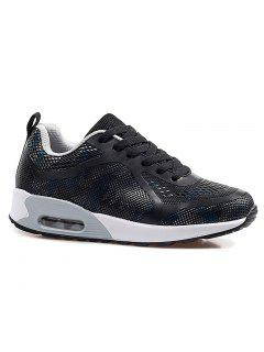 Air Cushion Multicolor Athletic Shoes - Black And Grey 37
