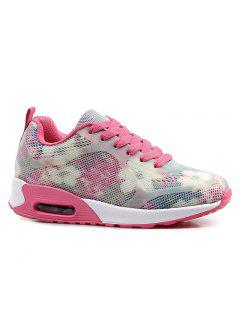 Air Cushion Multicolor Athletic Shoes - Red With White 38