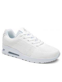 Air Cushion Mesh Athletic Shoes - White 38