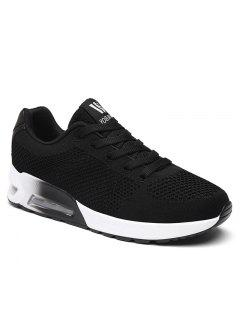 Air Cushion Mesh Athletic Shoes - Black 38