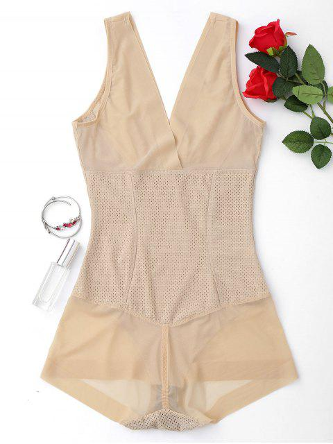 chic Full Body Firming Girdle Shaping Bodysuit - NUDE 2XL Mobile