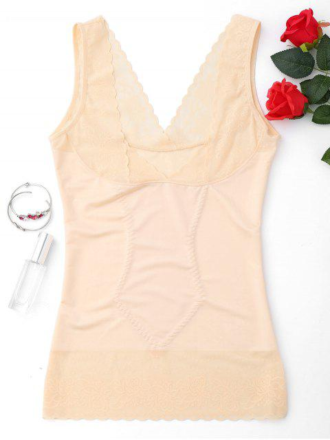 hot Compression Body Shaper Girdle Tank Top - COMPLEXION XL Mobile