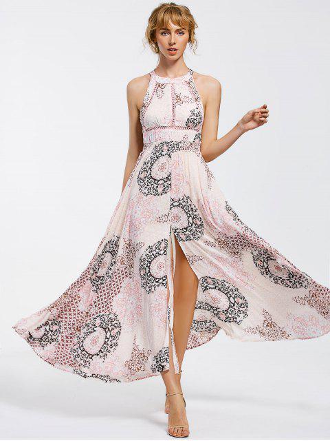 Robe Maxi Découpée avec Noeud Papillon Transparent - Multicolore M Mobile