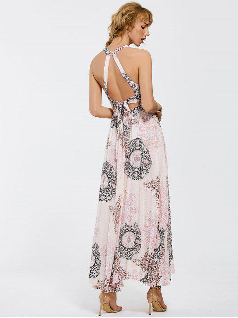 Robe maxi à manches courtes - Multicolore M Mobile