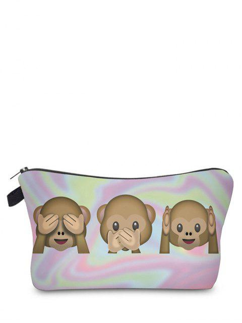 Emoji Print Makeup Bag - Pourpre Rosé  Mobile