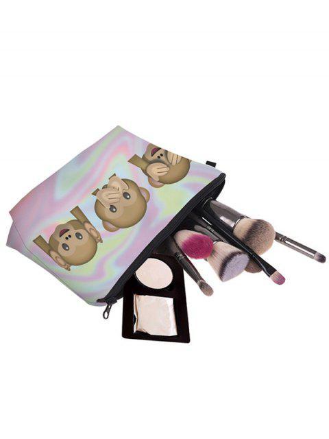 Emoji Print Makeup Bag - Pourpre Rosé  Mobile