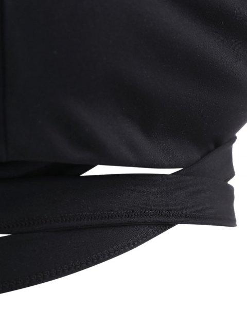 unique Active Padded Wrap Yoga Top - BLACK S Mobile